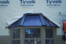 bay window metal roof