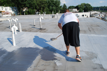 flat roof silver coating